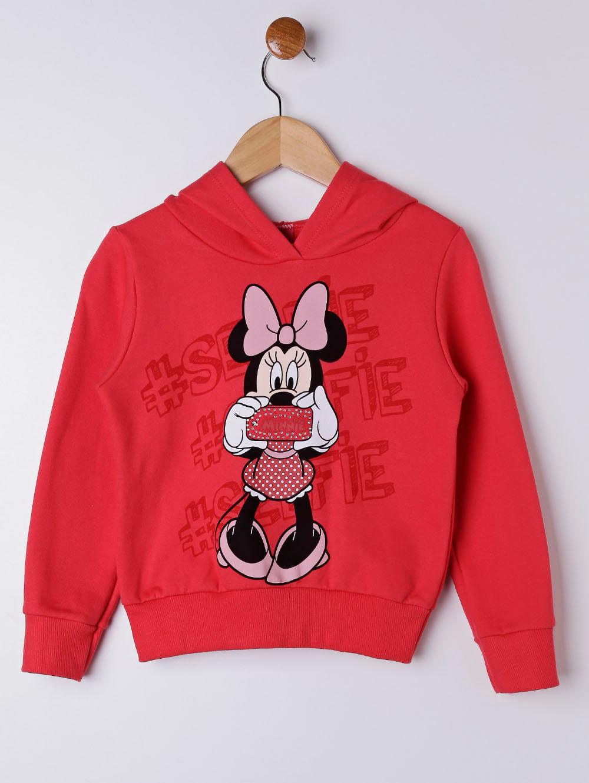 d6254b3da Moletom Disney Infantil para Menina - Vermelho - Lojas Pompeia
