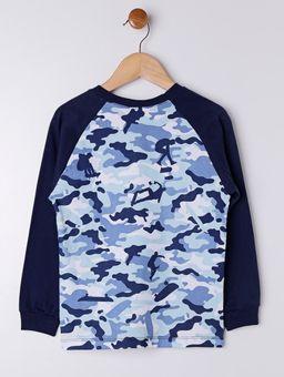 Camiseta-Camuflada-Manga-Longa-Infantil-para-Menino---Azul
