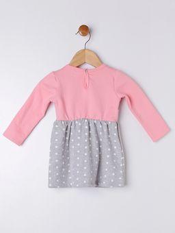 Vestido-Moletom-Infantil-para-Bebe-Menina---Rosa-cinza