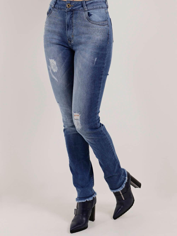 fa8ef7e8f Calça Jeans Skinny Feminina Azul - Lojas Pompeia