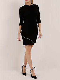 Vestido-Tricot-Feminino-Preto-P