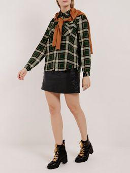 Camisa-Xadrez-Manga-Longa-Feminina-Verde-P
