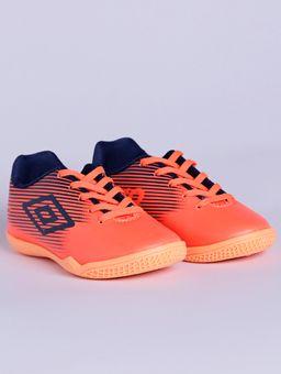 Tenis-Futsal-Umbro-F5-Light-Jr-Indoor-Infantil-Para-Menino---Coral-azul-Marinho