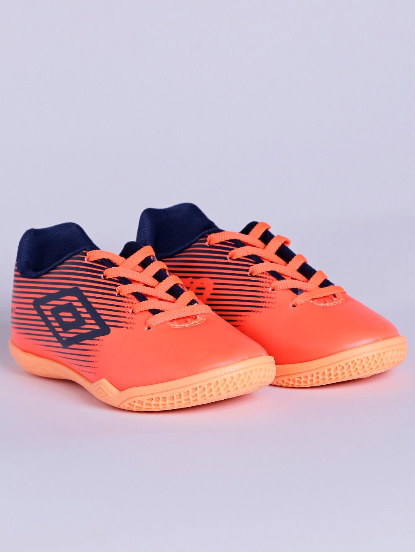 1832055fa4 Tênis Futsal Umbro F5 Light Jr Indoor Infantil Para Menino - Coral azul  Marinho