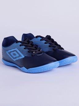 Tenis-Futsal-Umbro-F5-Light-Jr-Indoor-Infantil-Para-Menino---Azul-Marinho-azul