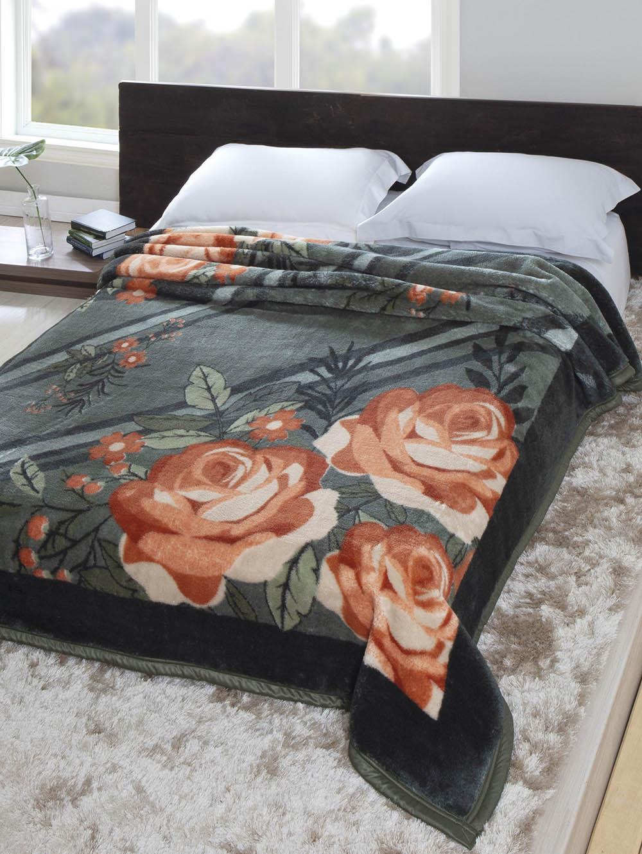 9b3b5fdaf0 Cobertor Casal Jolitex Tradicional Verde - Lojas Pompeia