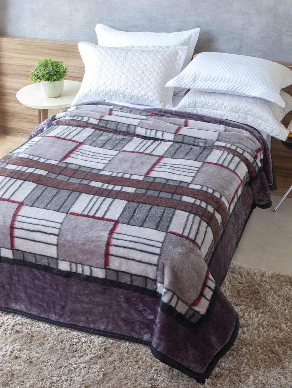 9067d67609 Cobertor Casal Jolitex Tradicional Cinza - Lojas Pompeia