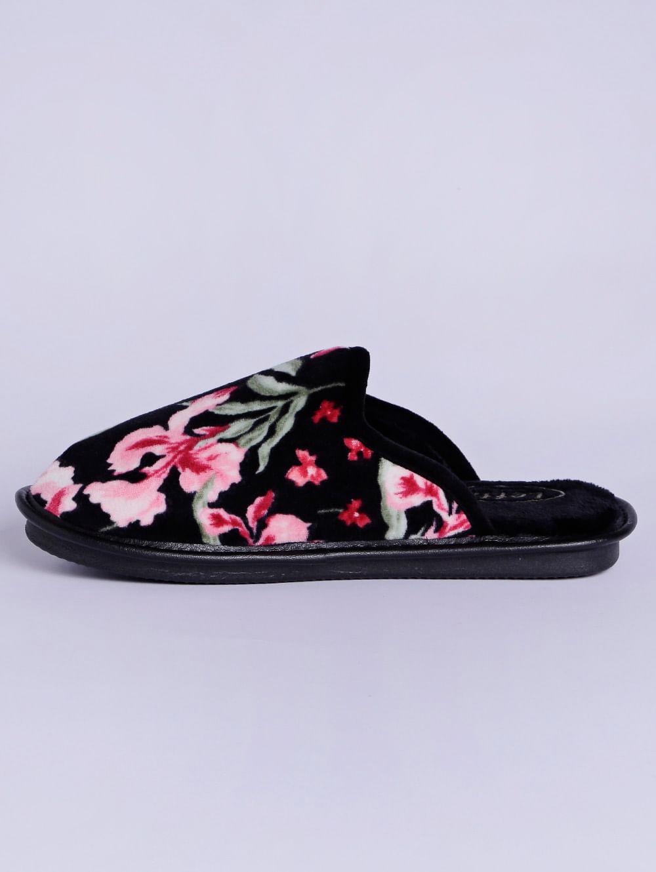 3584376f1d13ba Pantufa Floral Feminina Preto/estampado