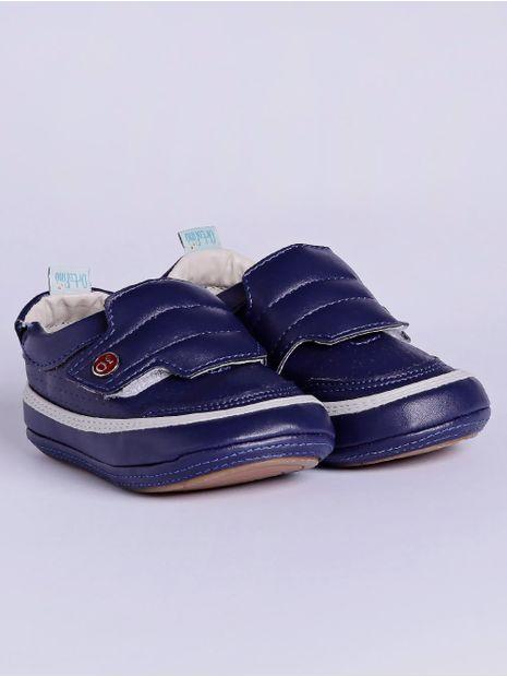 Sapato-Infantil-para-Bebe-Menino---Azul-Marinho
