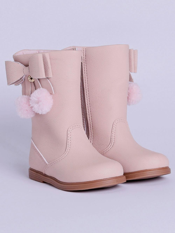 c13c96f7b48083 Bota Klin Infantil Para Bebê Menina - Rosa Pink