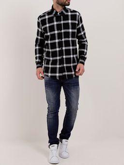 Camisa-Flanela-Manga-Longa-Masculina-Preto-branco-P