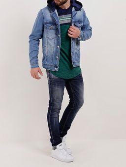 Camiseta-Manga-Longa-Masculina-Verde-azul-P