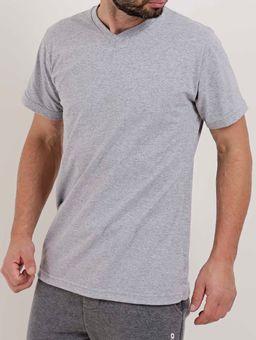 Camiseta-Manga-Curta-Masculina-Cinza-P