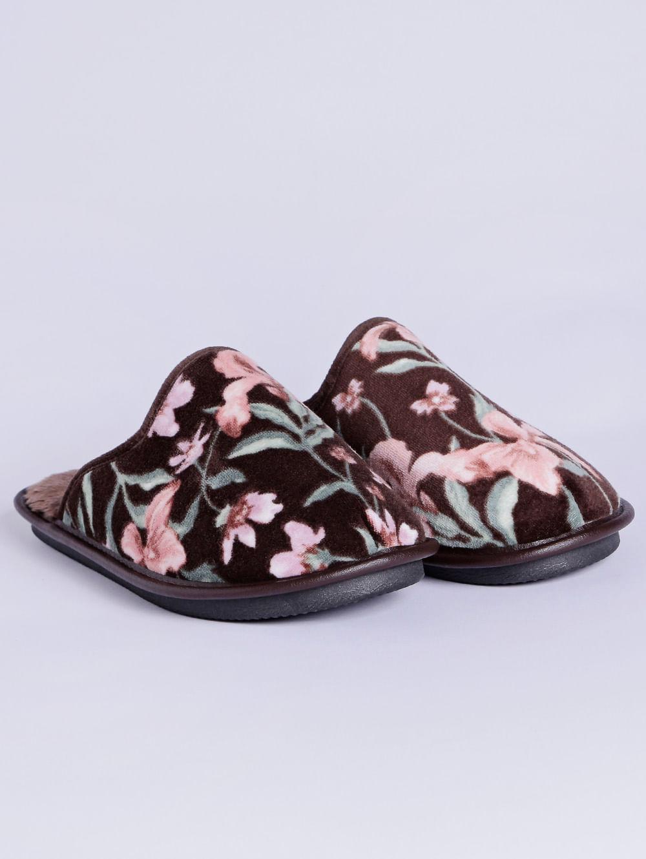 333573c5200ff5 Pantufa Floral Feminina Marrom/estampado