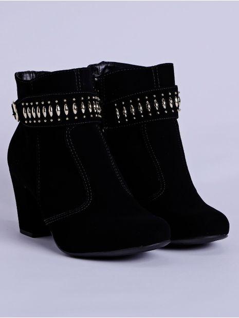 0167816f8b Bota Ankle Boot Feminina Preto - Lojas Pompeia