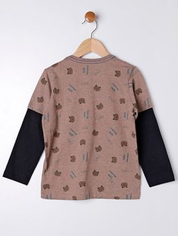 Camiseta-Manga-Longa-Infantil-Para-Menino---Marrom-6