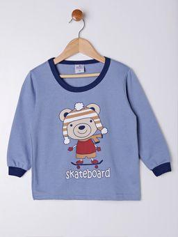 Pijama-Longo-Infantil-para-Menino---Azul-Marinho