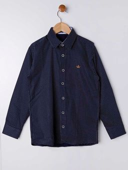 4db4ae7eed Camisa Manga Longa Juvenil Para Menino - Azul Marinho