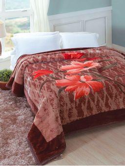 Cobertor-King-Jolitex-Tradicional-Marrom