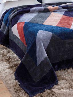 Cobertor-King-Jolitex-Tradicional-Azul