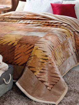 Cobertor-King-Jolitex-Double-Action-Bege-marrom