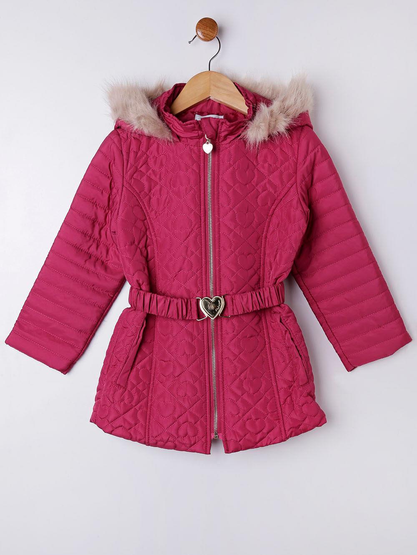 223a8bce4a Jaqueta Infantil para Menina com Capuz - Rosa Pink - Lojas Pompeia