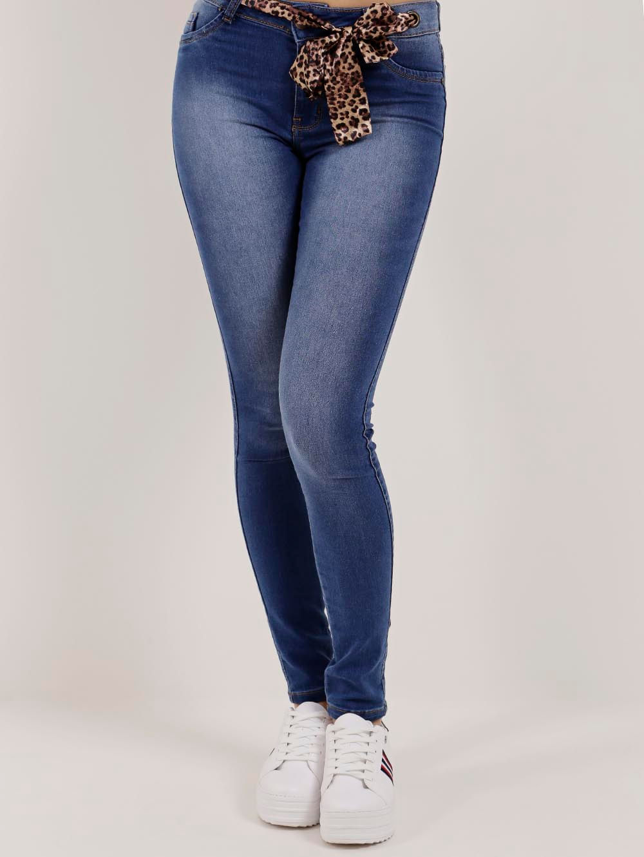 4f45863bd Calça Jeans Feminina Mokkai Azul - Lojas Pompeia
