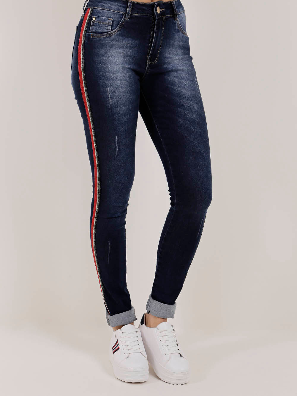 69af26c8d Calça Jeans Feminina Amuage Azul - Lojas Pompeia