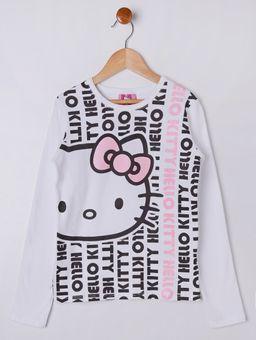 6dcdeca27 Blusa Manga Longa Hello Kitty Juvenil Para Menina - Branco