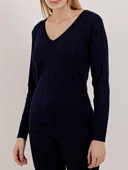 Blusa-de-Tricot-Feminina-Azul-Marinho