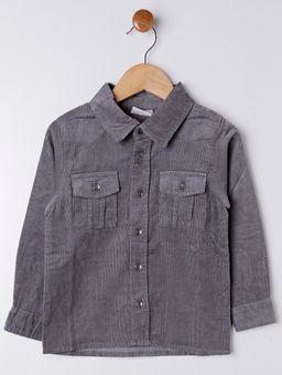 Camisa-Veludo-Manga-Longa-Infantil-para-Menino---Cinza