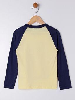 Camiseta-Manga-Longa-Infantil-para-Menino---Amarelo-azul-Marinho