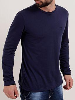 Camiseta-Manga-Longa-Masculina-Azul-Marinho-P