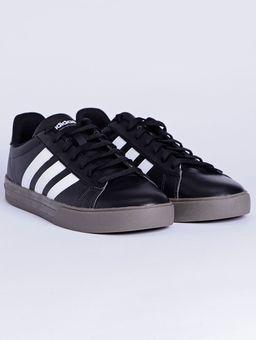 Tenis-Casual-Masculino-Adidas-Daily-2-Preto-branco-marrom-41