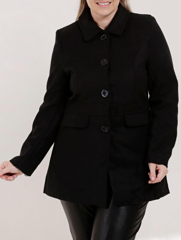 076c105ec Casaco Plus Size Feminino Preto - Lojas Pompeia