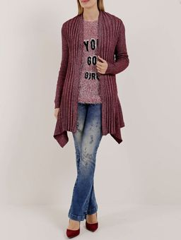 Cardigan-Alongado-Feminino-Bordo
