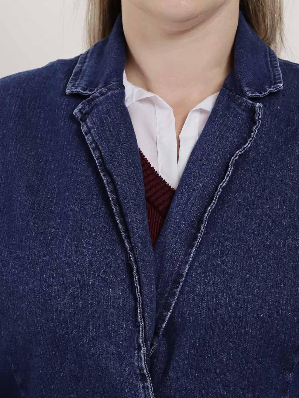 8d1d65b02c Blazer Jeans Plus Size Feminino Azul - Lojas Pompeia