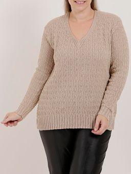 Blusa-de-Tricot-Plus-Size-Feminina-Bege-G2