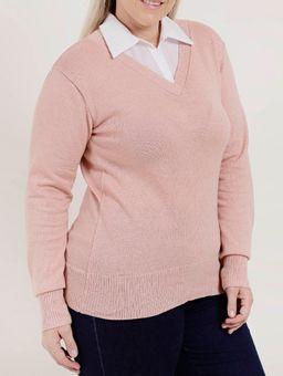 Blusa-de-Tricot-Plus-Size-Feminina-Rosa-G2