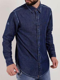 Camisa-Jeans-Manga-Longa-Masculina-Dixie-Azul-P