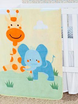 Cobertor-Infantil-Para-Bebe---Amarelo