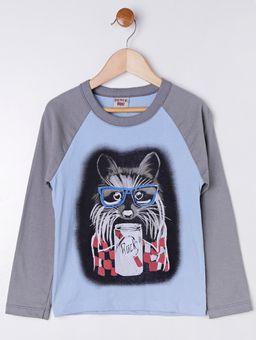 Camiseta-Manga-Longa-Infantil-para-Menino---Azul-cinza