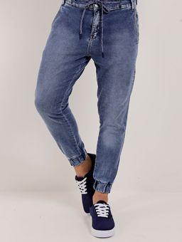 Calca-Jeans-Jogger-Masculina-Bivik-Azul