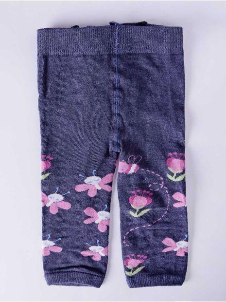 aaee54bac Meia-Calça Legging Infantil para Bebê Menina Lupo Mescla Jeans ...