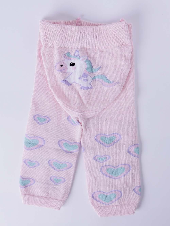 8c059c555c6613 Meia-Calça Legging Infantil para Bebê Menina Lupo Rosa