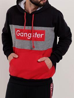 Moletom-Fechado-Masculino-Gangster-Preto-vermelho-P
