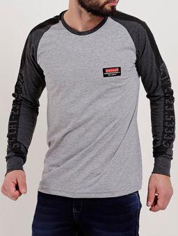 Camiseta-Raglan-Manga-Longa-Masculina-Gangster-Cinza