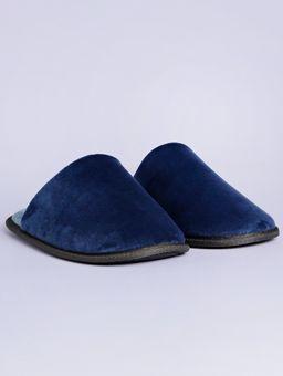 Pantufa-Masculina-Azul-Marinho