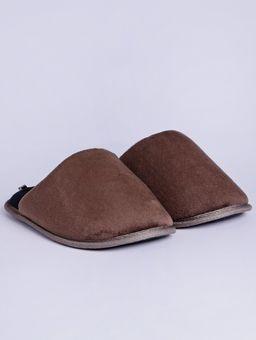 Pantufa-Masculina-Marrom