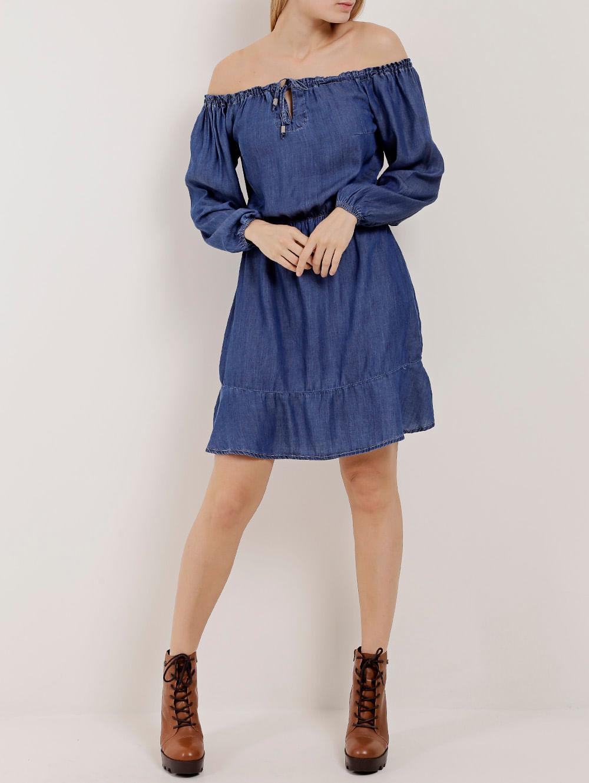 72751f87b Vestido Jeans Ciganinha Feminino Azul - Lojas Pompeia